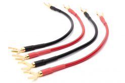 Mogami 3103 High Definition Bi-Wire-Lautsprecherkabel (4er-Set)   VIABLUE 24k Gold T6S Kabelschuhe (Spades) - Kabelschuhe (Spades)