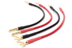 Mogami 3103 High Definition Bi-Wire-Lautsprecherkabel (4er-Set) | VIABLUE 24k Gold T6S Bananenstecker - Kabelschuhe (Spades)
