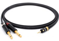 Mogami 3106 HiFi Y-Audiokabel | VIABLUE Gold 3,5mm Stereo - Neutrik Gold 6,3mm TS