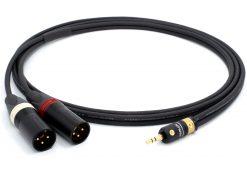Mogami 3106 Mikrofonkabel Stereo, Ø 2 x 4,8 mm HiFi Y-Audiokabel | VIABLUE 24k Gold T6S Klinkenstecker 3,5mm Stereo - Neutrik XLR male | HiFi