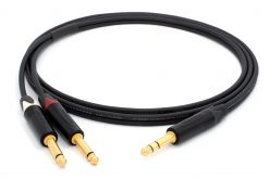 Mogami 3106 Mikrofonkabel Stereo, Ø 2 x 4,8 mm HiFi Y-Audiokabel | Neutrik Gold 6,3mm TRS Klinke - Neutrik 6,3mm TS klinke | HiFi
