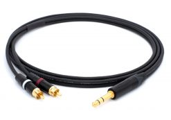 Mogami 3106 Mikrofonkabel Stereo, Ø 2 x 4,8 mm HiFi Y-Audiokabel | Neutrik Gold 6,3mm TRS Klinke - Neutrik Cinch RCA | HiFi