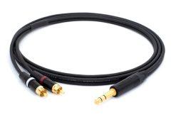 Mogami 3106 Mikrofonkabel Stereo, Ø 2 x 4,8 mm HiFi Y-Audiokabel | Neutrik Gold 6,3mm TRS Klinke - Neutrik Cinch RCA | HiFi