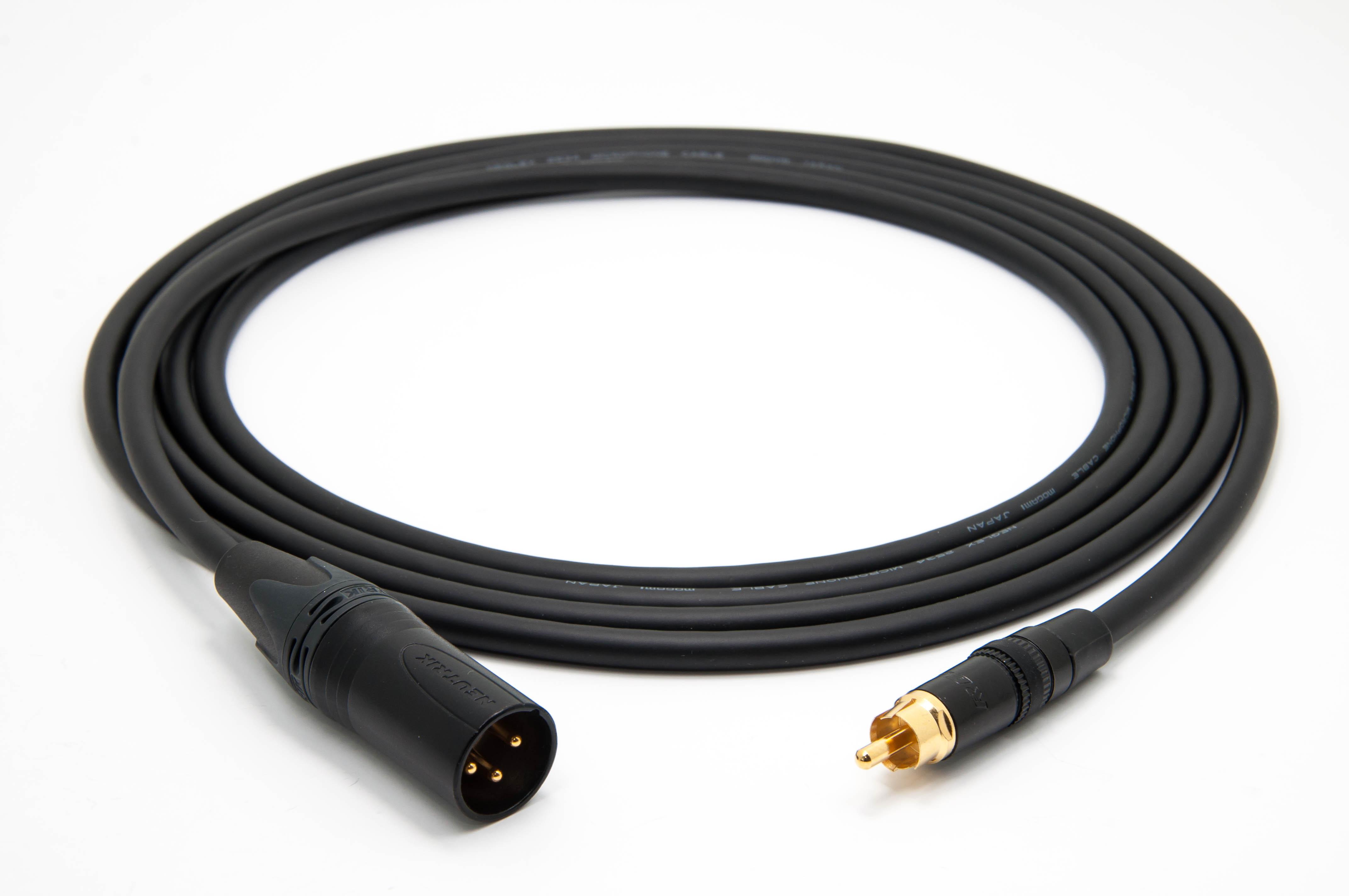 0.5 Meter Mogami 2964 Cable and Neutrik-Rean Connectors RCA Audio Cable Pair